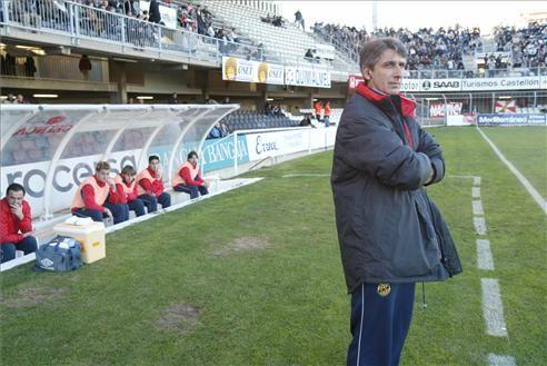 Jordi Vinyals va dirigir al Nàstic la campanya 2003/04. Ara és l'entrenador del Juvenil del Barça. foto: nasticdetarragona.com