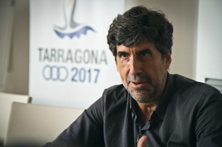 Ramon Pallejà, en un moment de l'entrevista amb el 'Fet a Tarragona' (foto: David Oliete)