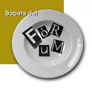 Logotip d'Els Sopars del Fórum, dissenyat per Lluís Miquel.