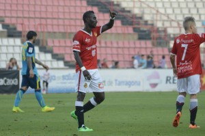 Lago va fer el gol del Nàstic davant del Sevilla. Foto: Nàstic