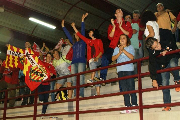 Aficionats del Nàstic desplaçats a València per veure el partit en directe. Foto: Nàstic