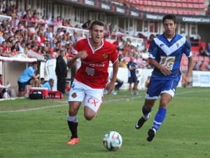 El lateral dret Gerard Valentí, un dels destacats del partit. Foto: E.M. cedida (L'Esportiu)