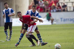David Rocha va tornar a ser un dels destacats aquest cop sense marcar però. Foto: JC León Cedida L'Esportiu.