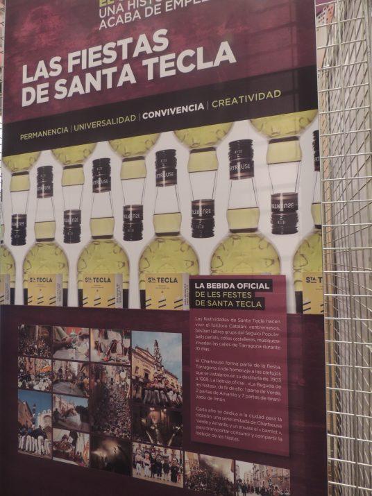 Plafó sobre la relació del Chartreuse amb les festes de Santa Tecla.