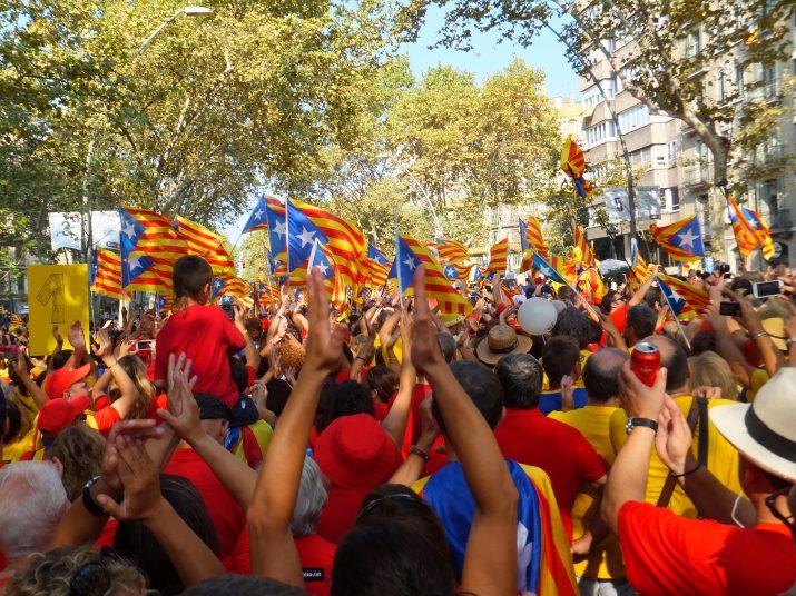 Aplaudiments dels manifestants a les 17.15 h.