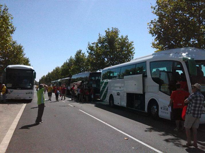 De Vila-seca van sortir vuit autocars
