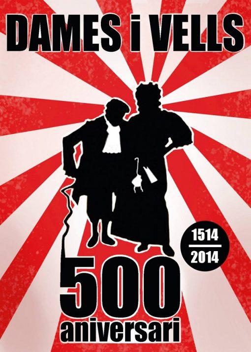 El cartell commemoratiu del 500 aniversari.