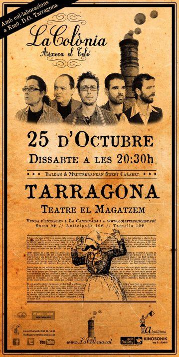 Cartell promocional del concert d'aquest dissabte de La Colònia