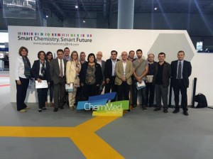Els membres del Consell Cívic Consultor de BASF a la fira Expoquímia