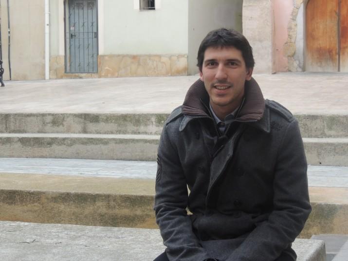 Carles Ribas, el passat hivern a la plaça de Dames i Vells