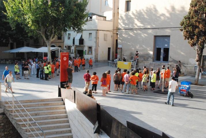 Domini públic a la plaça del Rei, estiu de 2012. Foto: CA