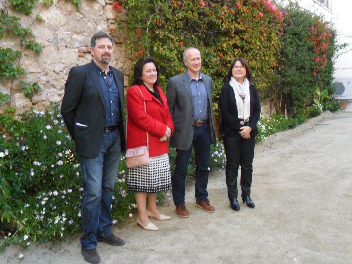 Jordi de Manuel (el segon per la dreta) fou l'últim guanyador del premi Pin i Soler de novel·la, el passat 2013.