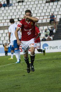Xavi Molina va fer l'1 a 0 que obria el marcador. Foto: Nàstic