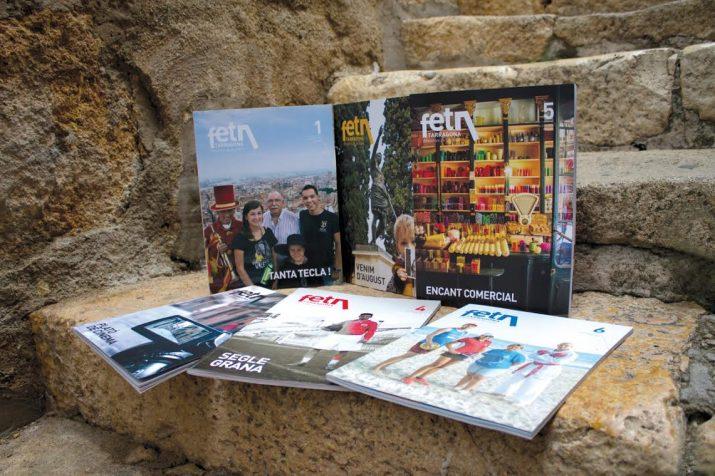 Les primeres sis revistes del 'Fet a Tarragona'. Les fotos de portada són obra de David Oliete i Agustí Arévalo