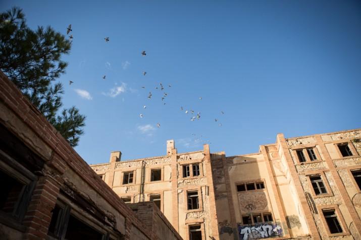 Els pavellons de l'antic preventori de la Savinosa es van degradant amb el pas del temps (foto: David Oliete)