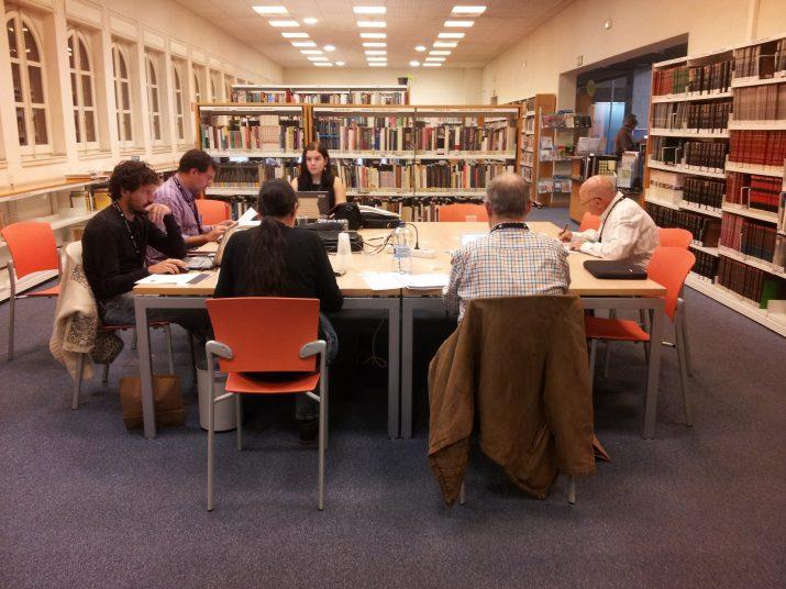 Imatge de la Viquitrobada 2014, celebrada a la Biblioteca Pública de Tarragona (FOTO: Biblioteca Pública de Tarragona).