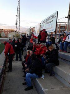 L'afició del Nàstic no va fallar i prop d'un centenar de seguidors van donar suport a l'equip. Foto:Rafael Sierra