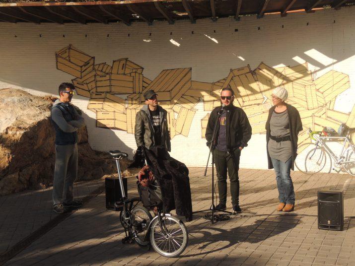 D'esquerra a dreta: Foham Fonez, Jordi Abelló, Aureol Sanz i Begoña Floria.