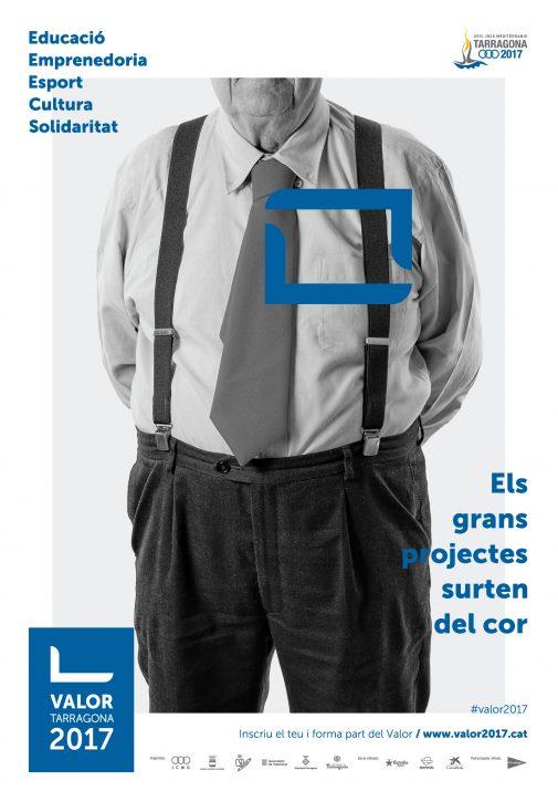 Un dels cartells que anuncien el projecte Valor2017