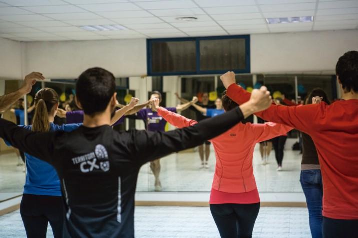 Un assaig dels components de la colla de Tarragona Dansa, sotscampiona de Catalunya 2014 (foto: DAVID OLIETE)