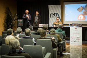 El president de la Cambra de la Propietat Urbana de Tarragona, Agustí Pujol, va presentar l'acte.