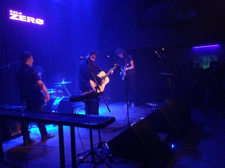 Els Satèl·lit, en un moment de la seva actuació a la Sala Zero.