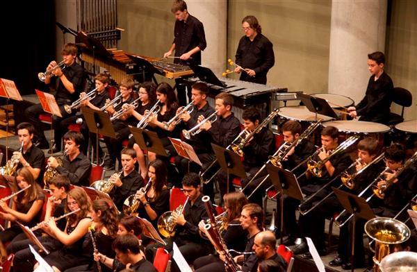 Concert de la Banda de Grau Professional del Conservatori de Música de la Diputació (foto: Diputació de Tarragona)