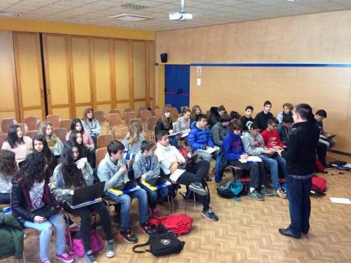 La xerrada sobre Periodisme forma part de l'assignatura 'Faig' (foto cedida per La Salle Torreforta)