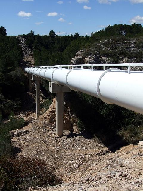 Infraestructura del CAT que fa possible portar aigua del riu Ebre al Camp de Tarragona (foto: Consorci Aigües Tarragona)