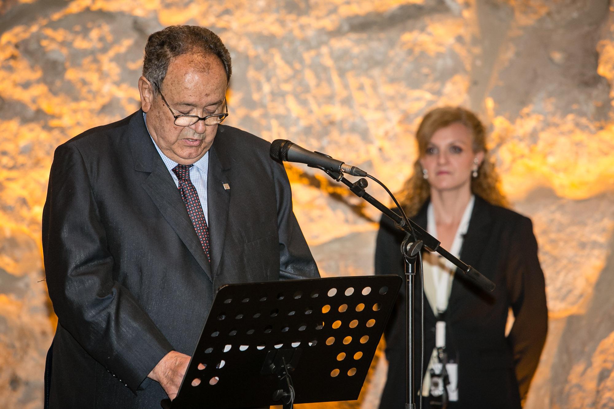 Josep Senda i Navarro durant el seu parlament a l'acte de la Fundació Mútua Catalana del passat 9 d'abril. (Fotografia: Juan Segovia)