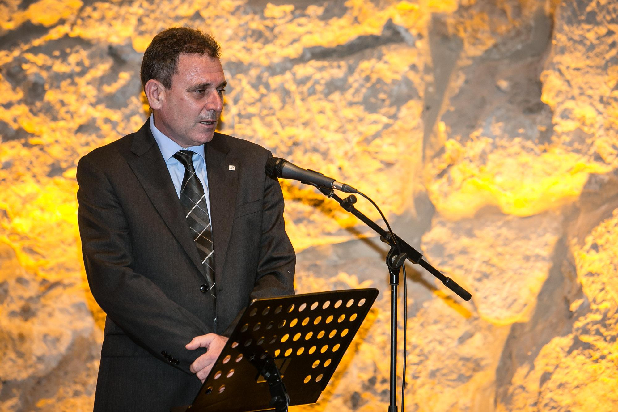 Pere Jornet i Corbella, patró de la Fundació, va parlar en nom del seu pare, Pere Jornet i Grant, homenatjat a títol pòstum durant l'acte (Fotografia: Juan Segovia)