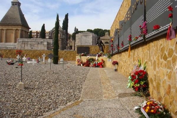 Monument d'homenatge a les víctimes del franquisme al cementiri de Tarragona (foto cedida)