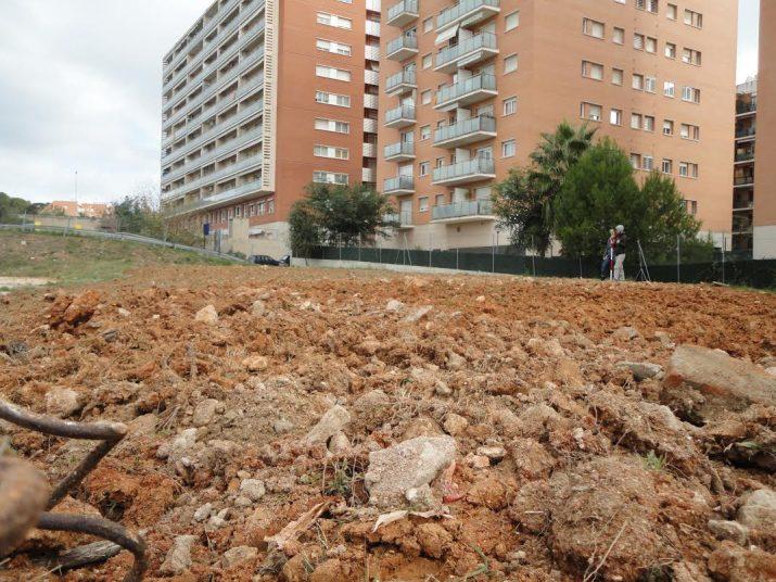 Àrea del campus Catalunya de la URV on hi hauran els horts socials (foto cedida per SUSANA BORRÀS)