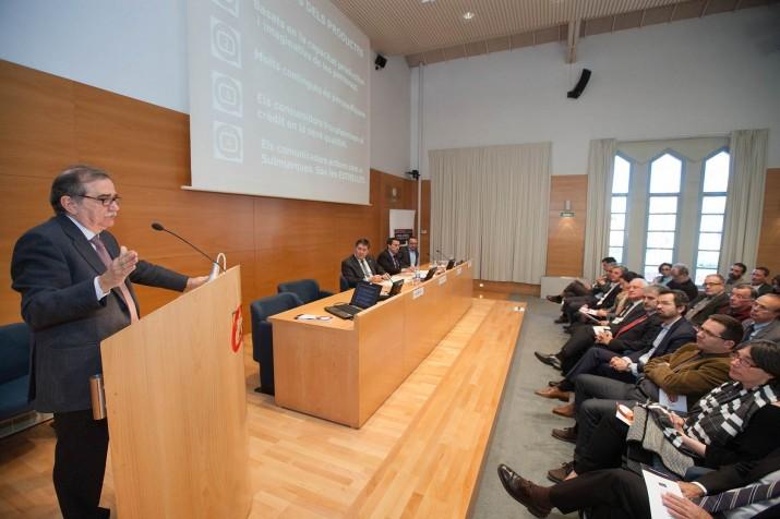 Josep M. Martí, en un moment de la conferència impartida al Paraninf de la URV (foto: Repsol)