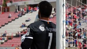 Manolo Reina també ha estat protagonista en batre el seu rècord de minuts sense gols amb 446min. Foto:Joan Alfions López