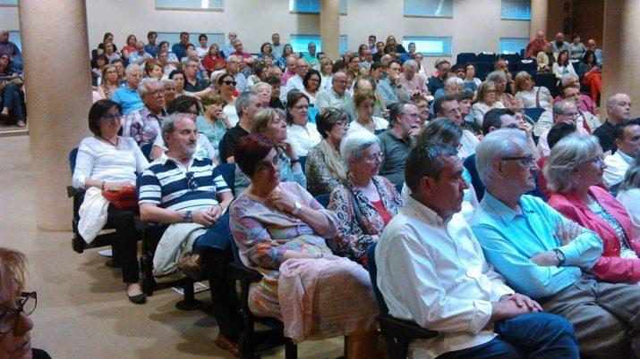 La sala d'actes del Col·legi d'Advocats i Farmacèutics es va omplir per escoltar a Martí Anglada (foto: ANC)