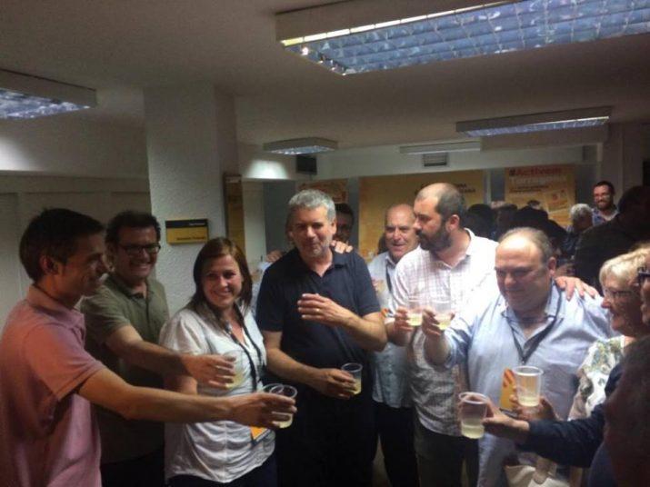 ERC celebra la tornada a l'ajuntament de Tarragona amb 4 regidors (foto: ERC)