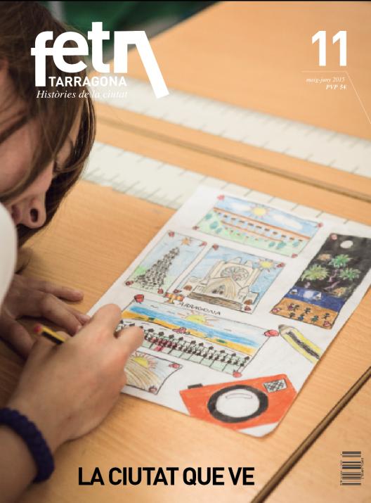 Un dibuix de l'Abril, de 10 anys, protagonitza la portada del número 11 del FET a TARRAGONA (foto: DAVID OLIETE)