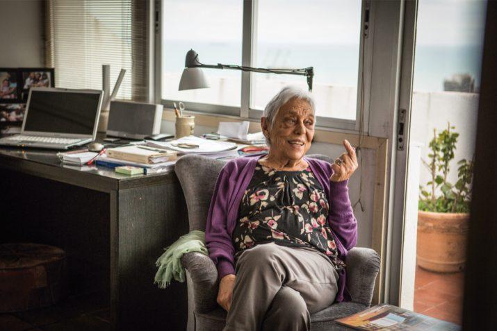 Maria Antònia Ferrer, de 89 anys, en un moment de l'entrevista amb el FET a TARRAGONA (foto: David Oliete)