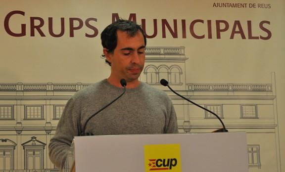 David Vidal, portaveu de la CUP a reus