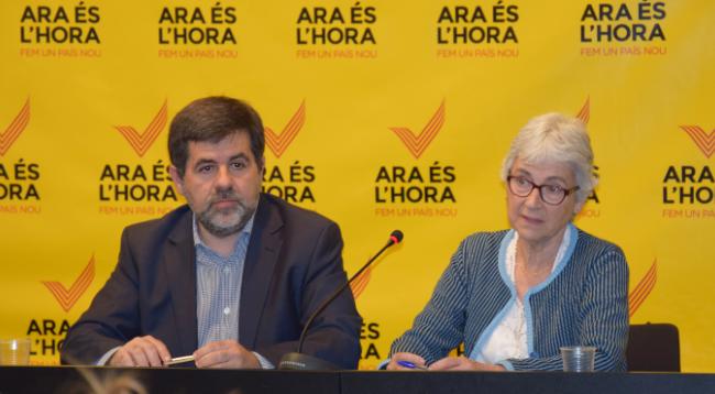 Jordi Sánchez i Muriel Casals, presidents de l'ANC i Òmnium, respectivament (foto: Òmnium)