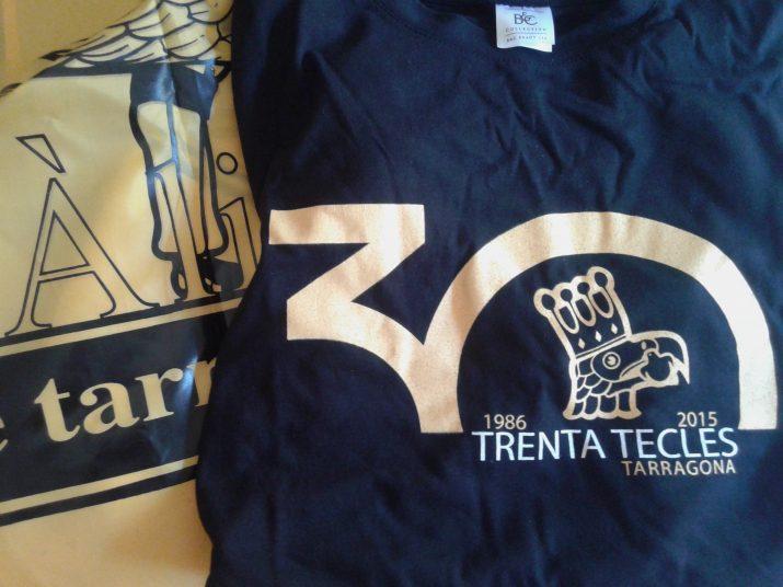 Samarreta commemorativa de les trenta tecles de l'Àliga de Tarragona  i domàs oficial