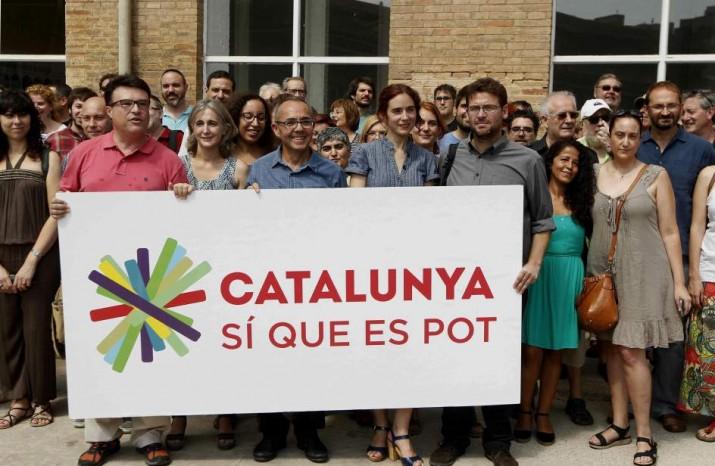 Acte de presentació de la candidatura 'Catalunya Sí que Pot' de cara a les eleccions del 27-S (foto: ara.cat)