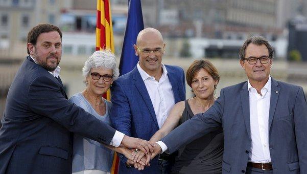 Acte de presentació de la candidatura 'Junts pel Sí' de cara a les eleccions del 27-S (foto: lavanguardia.com)