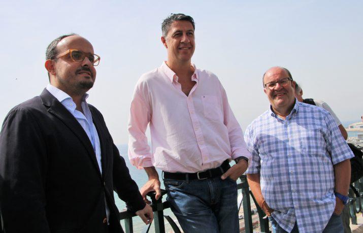 Alejnadro Fernández, Xavier Garcia Albiol i Rafael Luna, la setmana passada a Tarragona (foto: Partit Popular)