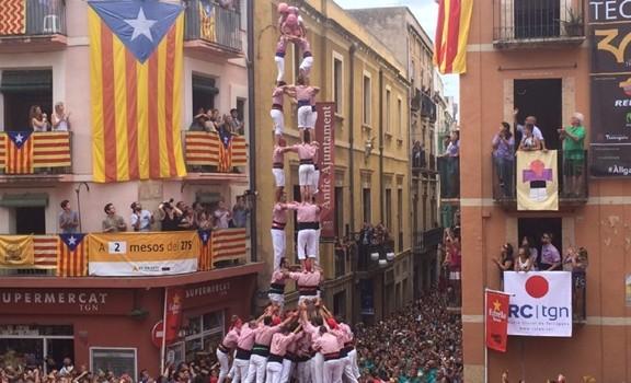 3 de 9 dels Xiquets de Tarragona (foto: Gerard Recasens)