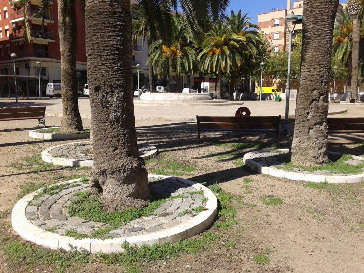 La plaça dels Infants espere des de fa anys un projecte de remodelació
