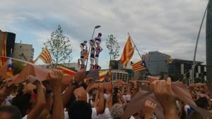 Pilars de la Jove de Tarragona a la Via Lliure (Foto: MERITXELL GUILLEMAT)
