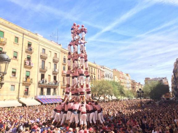 5 de 9 amb folre carregat pels Xiquets de Tarragona. (Foto: DiariCasteller.cat)