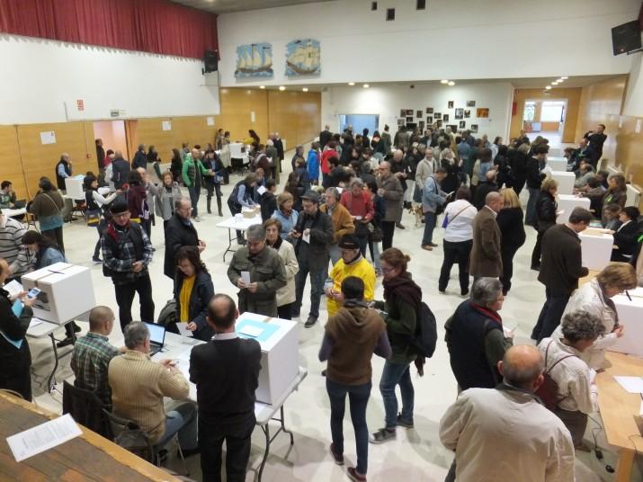 Votacions en un col·legi electoral de Tarragona el passat 9 de novembre
